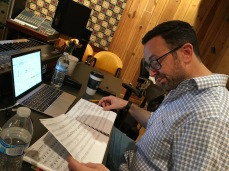 Composer David Weinstein at work